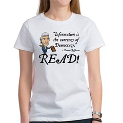 Thomas Jefferson - Read!  Women's T-Shirt