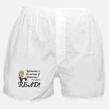 Thomas Jefferson - Read!<br> Boxer Shorts