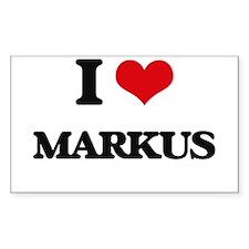 I Love Markus Decal