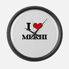 I Love Mekhi Large Wall Clock