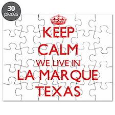 Keep calm we live in La Marque Texas Puzzle