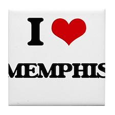 I Love Memphis Tile Coaster