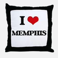 I Love Memphis Throw Pillow