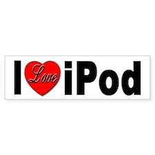 I Love iPod Bumper Sticker for iPod Lovers