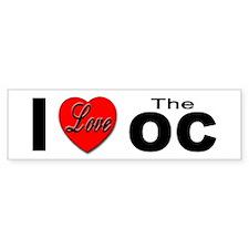 I Love The OC Bumper Sticker for OC Lovers