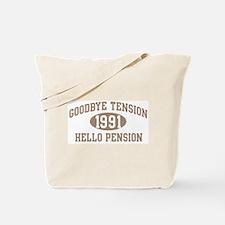 Hello Pension 1991 Tote Bag