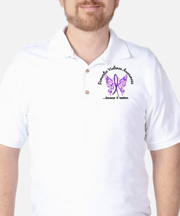 Domestic Violence Butterfly 6.1 Golf Shirt