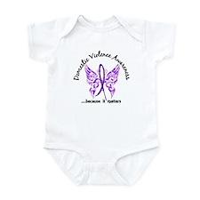 Domestic Violence Butterfly 6.1 Infant Bodysuit