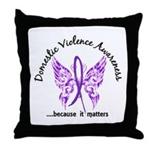 Domestic Violence Butterfly 6.1 Throw Pillow