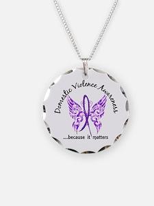 Domestic Violence Butterfly Necklace