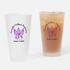 Domestic Violence Butterfly 6.1 Drinking Glass