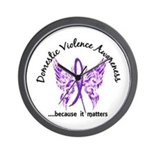 Domestic Violence Butterfly 6.1 Wall Clock