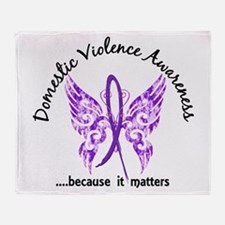 Domestic Violence Butterfly 6.1 Throw Blanket