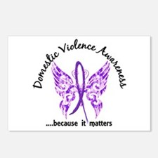 Domestic Violence Butterf Postcards (Package of 8)