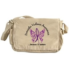 Domestic Violence Butterfly 6.1 Messenger Bag