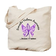 Domestic Violence Butterfly 6.1 Tote Bag