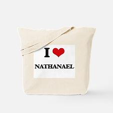 I Love Nathanael Tote Bag