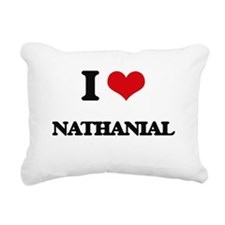 I Love Nathanial Rectangular Canvas Pillow