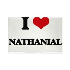 I Love Nathanial Magnets