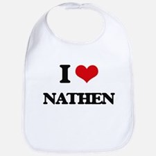 I Love Nathen Bib