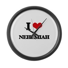 I Love Nehemiah Large Wall Clock