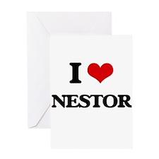 I Love Nestor Greeting Cards
