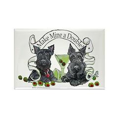 Scottish Terrier Double Rectangle Magnet (10 pack)
