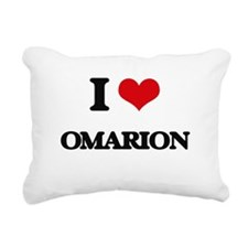 I Love Omarion Rectangular Canvas Pillow