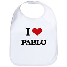 I Love Pablo Bib