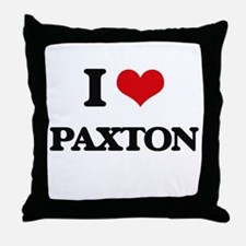 I Love Paxton Throw Pillow