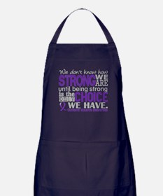 Domestic Violence HowStrongWeAre Apron (dark)