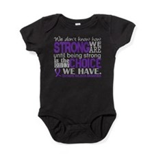 Domestic Violence HowStrongWeAre Baby Bodysuit