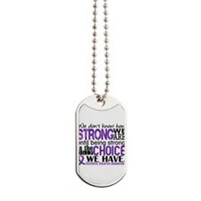Domestic Violence HowStrongWeAre Dog Tags