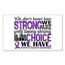 Domestic Violence HowStrongWeA Decal