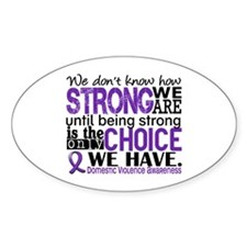 Domestic Violence HowStrongWeAre Decal