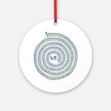 Warli Spiral Ornament (Round)