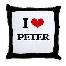 I Love Peter Throw Pillow