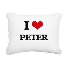I Love Peter Rectangular Canvas Pillow