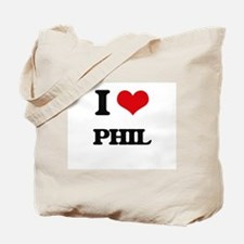 I Love Phil Tote Bag