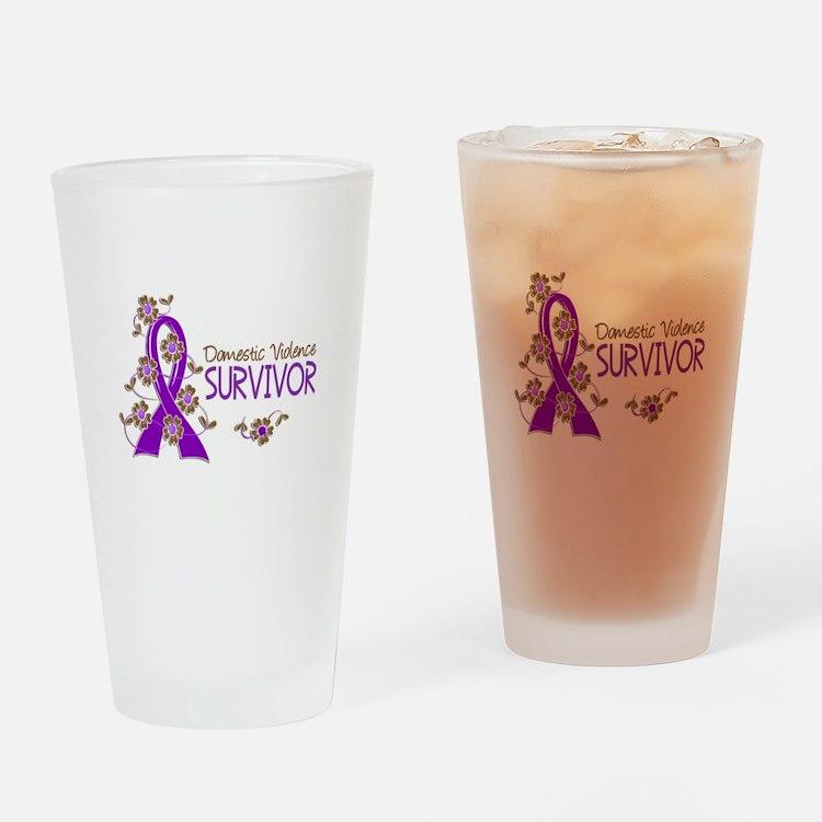 Domestic Violence Survivor 3 Drinking Glass