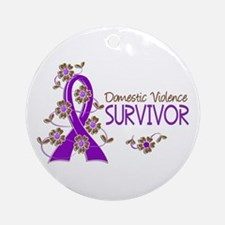 Domestic Violence Survivor 3 Ornament (Round)