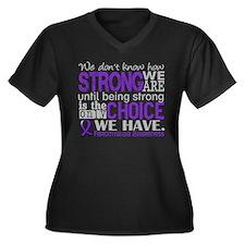 Fibromyalgia Women's Plus Size V-Neck Dark T-Shirt