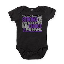 Fibromyalgia HowStrongWeAre Baby Bodysuit