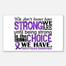 Fibromyalgia HowStrongWeAre Decal