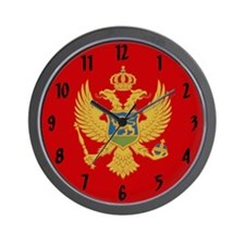 Flag of Montenegro Wall Clock