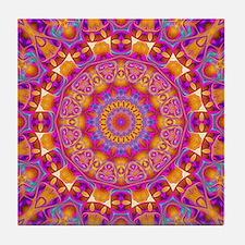 Trippy Hippy | v6 Geometric Mandala Tile Coaster
