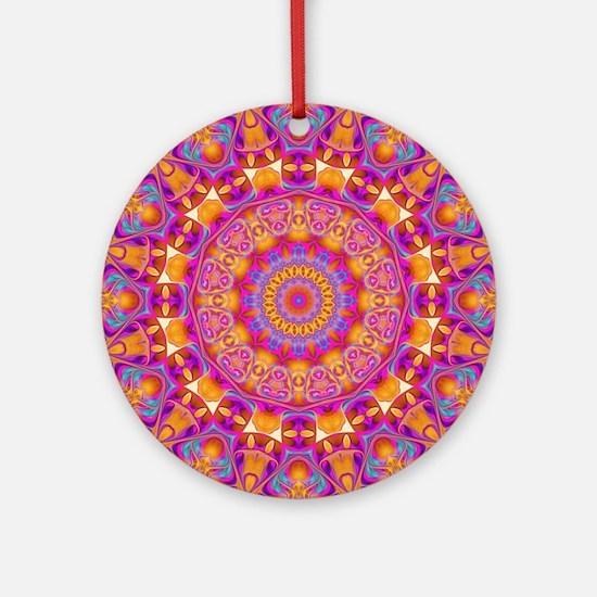Trippy Hippy | v6 Geometric Manda Ornament (Round)