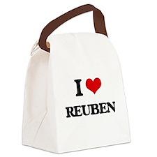 I Love Reuben Canvas Lunch Bag