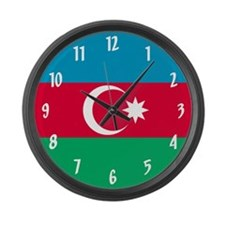 Flag of Azerbaijan Large Wall Clock