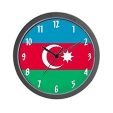 Flag of Azerbaijan Wall Clock
